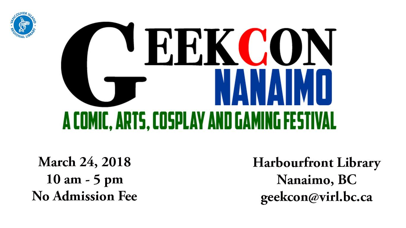Geekcon, Saturday, March 24, 10am-5pm